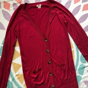 Mossimo Red V-Neck Cardigan